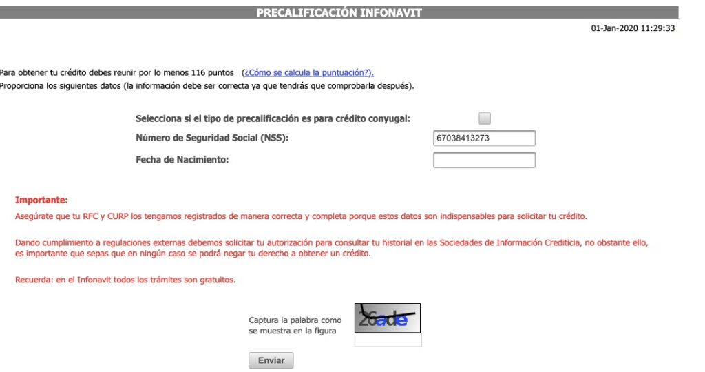 Precalificación Infonavit